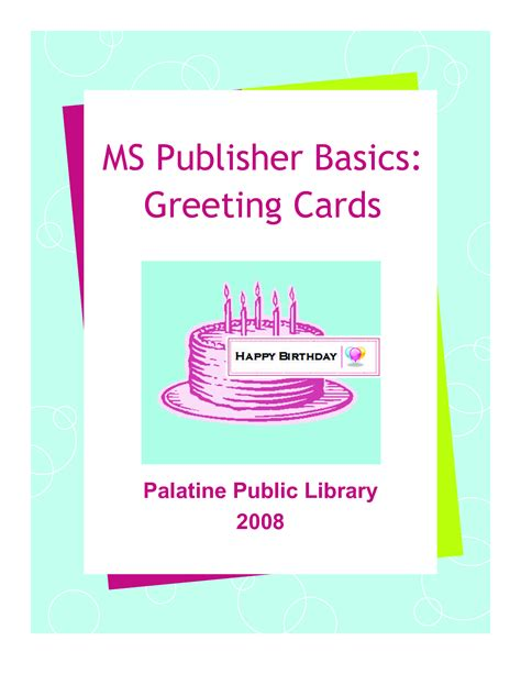 birthday card template publisher