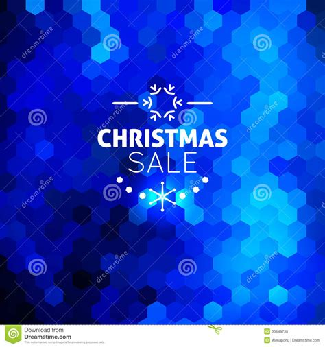 christmas sale abstract blue background royalty free stock