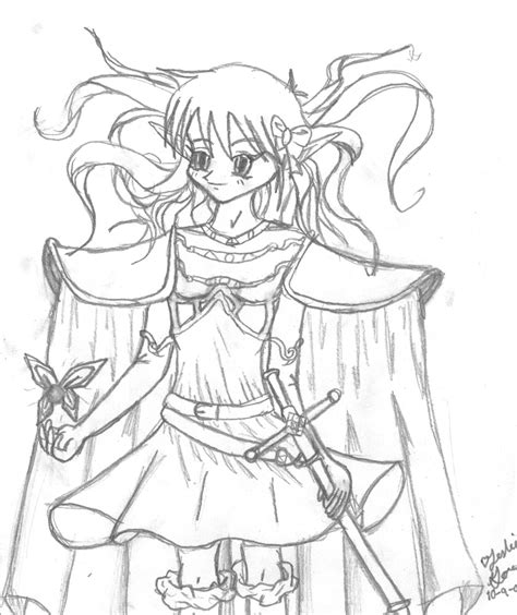 anime elf coloring pages a girl elf coloring pages