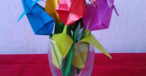 video cara membuat origami bunga tulip cara mudah membuat origami bunga tulip kreasi ceria