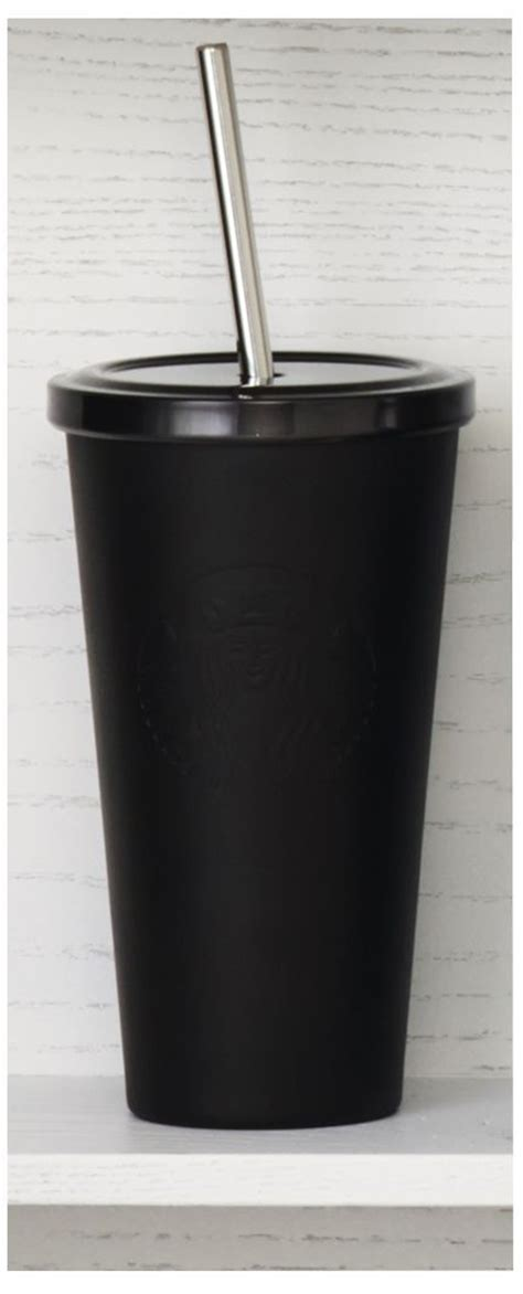 Starbucks Tumbler Black Mate Cold Cup Stainless Steel Logo insulated stainless steel cold cup tumbler with embossed siren logo and matte black finish