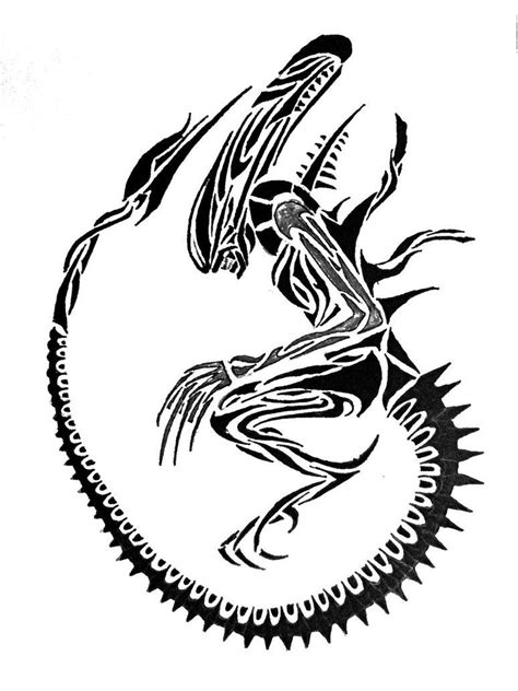 tribal xenomorph tattoo tribal aliens aliens xenomorph and