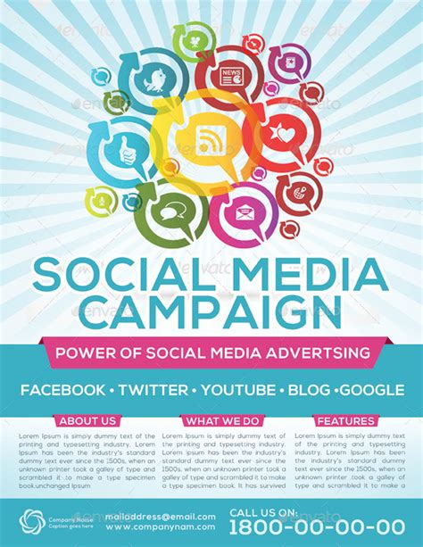 social media caign template social media caign flyer template by graphicshint