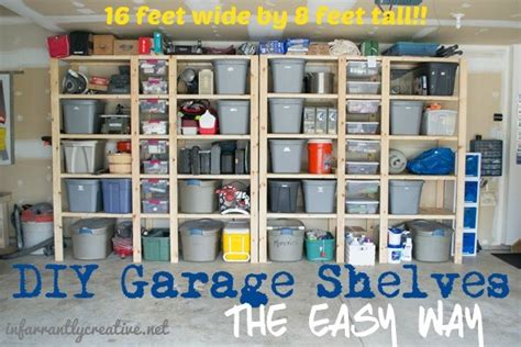 simple garage shelves how to build garage shelves infarrantly creative