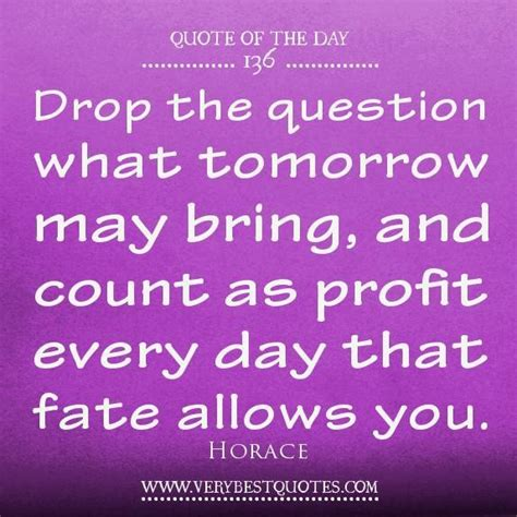 what s in a name every drop our strategies drop the question what tomorrow may bring and count as