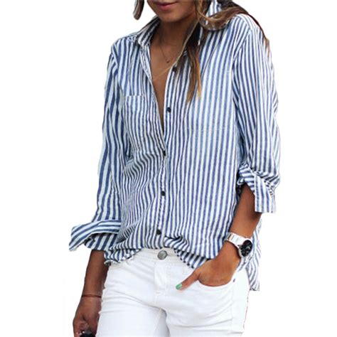 Striped Neck Casual Top casual stripe sleeve o neck blouses t shirt top shirt ebay