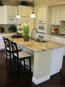 Kitchen Island And Breakfast Bar Pictures Of Kitchens Traditional White Kitchen Cabinets