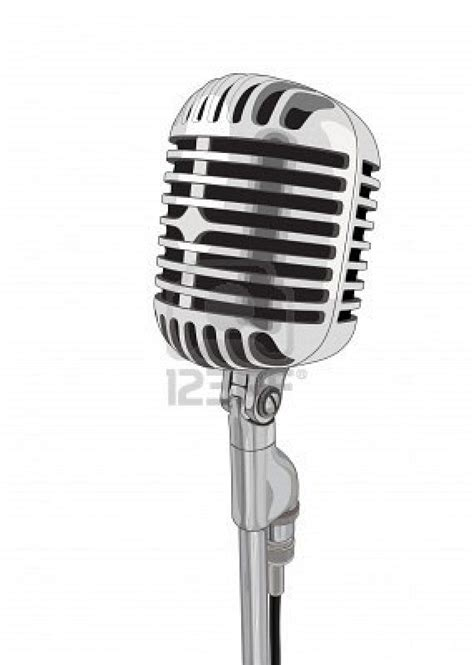 Shure Condenser Mic 7 1 White sing into a vintage microphone vector ideas