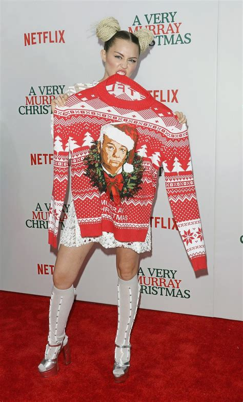 Miley Cyrus Has Enough Ugly Christmas Sweaters To Fill ... Gucci Mane Costume