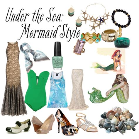 Fascinating Look In Sea Inspired How To Do The Sea Mermaid Inspired Clothes Polyvore