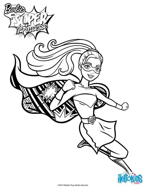 super barbie coloring page barbie super power saves the day coloring pages