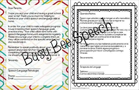 Parent Letter Requesting Iep parent letters for speech therapy in