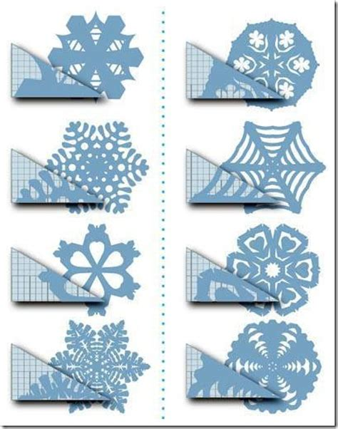 Paper Snowflakes Patterns - how to make a no sew paper snowflakes window curtain in