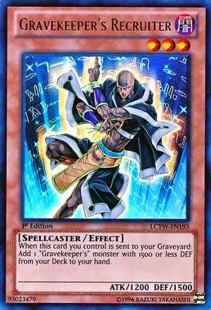 gravekeeper's recruiter | decks and tips | yugioh! duel