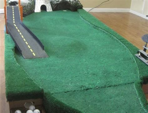 how to build a putting green in my backyard diy geek golf variable putting green wooden 9 hole