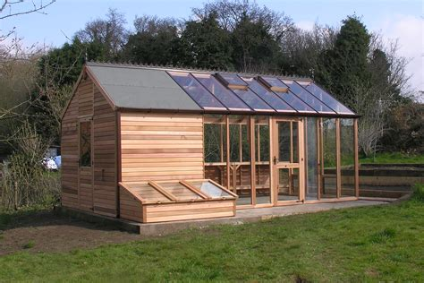 Green House Shed by Traditional Felt Roof Sheds
