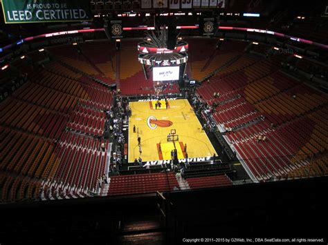 seating section americanairlines arena section 406 miami heat