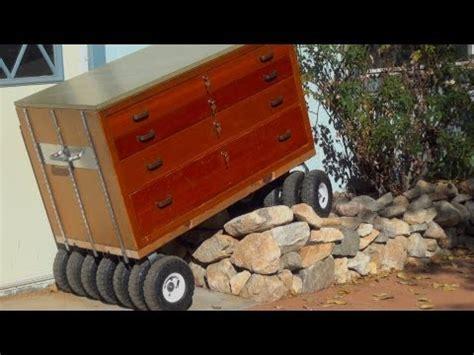 built monster tool box  wheel  terrain wooden roll