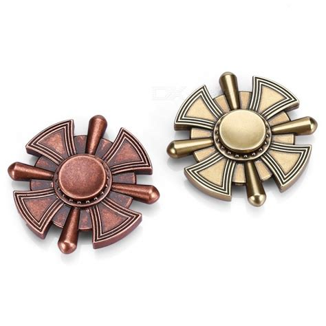 classic four blade zinc alloy adhd fidget spinner copper free shipping dealextreme