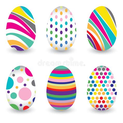 colorful easter eggs easter day for egg isolated on vector design colorful