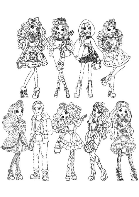 Ever After High All Characters Coloring Pages Download High Coloring Pages All Characters