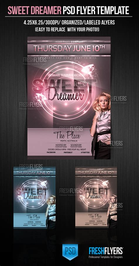 flyer design deviantart sweet dreams psd flyer template by imperialflyers on