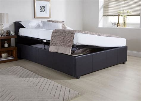 side lift ottoman storage bed side lift ottoman storage black double bed frame double