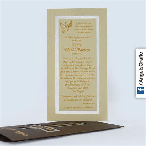 recordatorios de misa de honras invitaci 243 n para misa de honras hr 56863 angels graphic