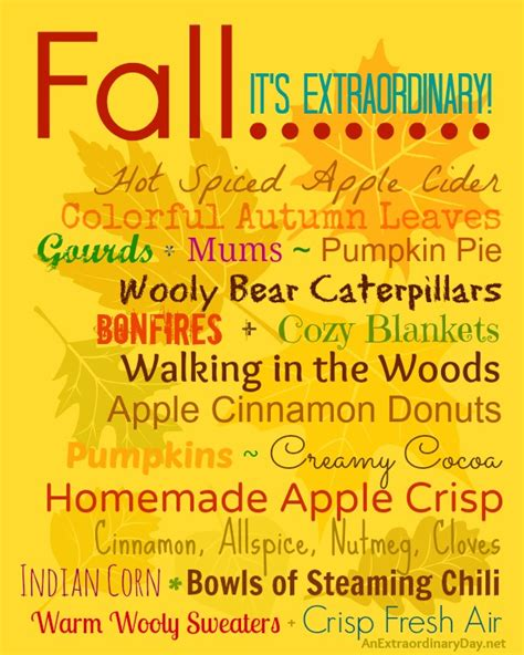 20 things i love about fall fall nesting series an extraordinary day