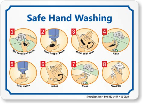 printable washing instructions hand washing signs wash your hand sign employee