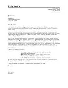 Letter Of Resignation Career Change by Cover Letter For New Career Sle Cover Letter For Resume