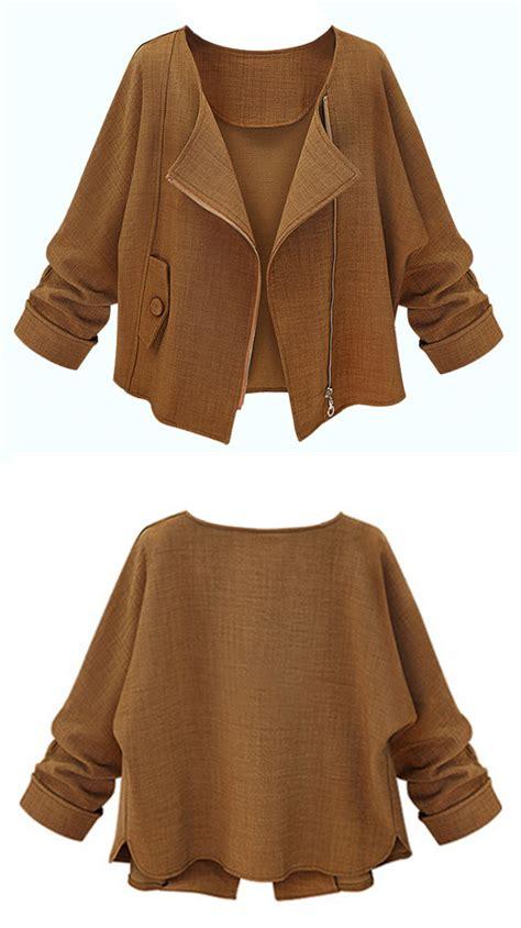Coat Zipper Dea 7 brown sleeve zipper jacket at banggood