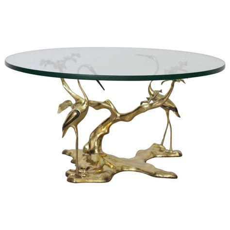 french empire crane side table bird cocktail tables ebay crane brass cocktail or coffee table at 1stdibs