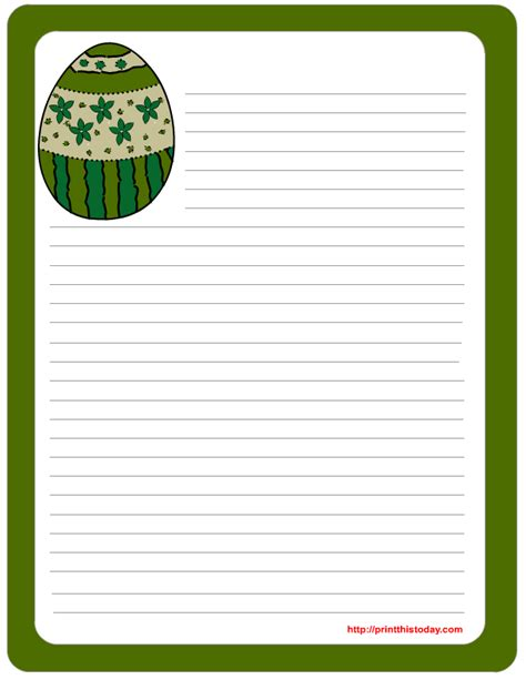printable lined easter stationery 5 best images of stationary free printable easter pages