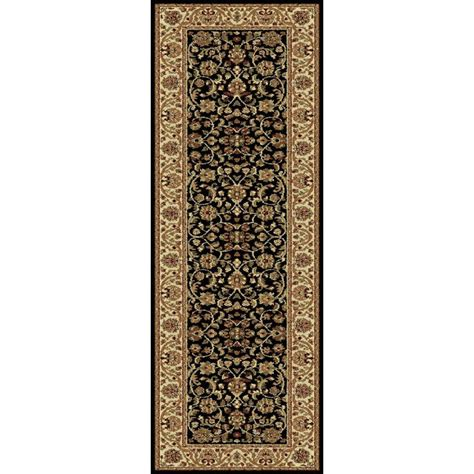 Black Runner Rugs by Tayse Rugs Sensation Black 2 Ft 7 In X 7 Ft 3 In