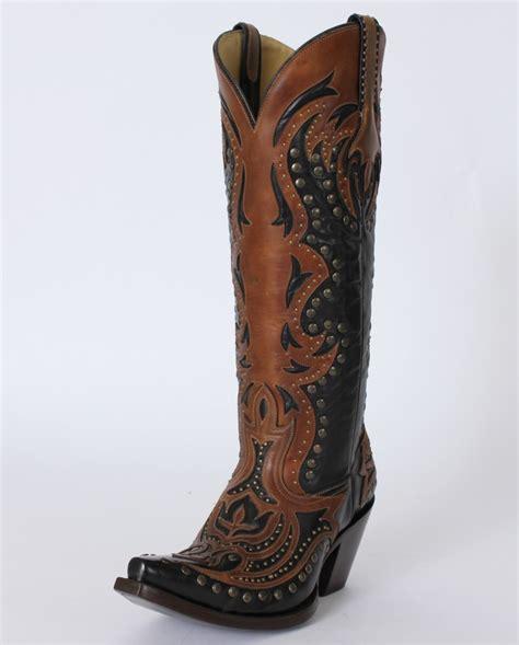 Corral Boots 174 Black Cognac Laser Boots