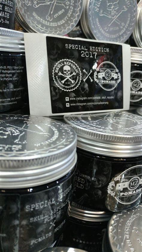 Pomade Skull Republic pomade skull republic collabaration end 1 7 2018 12 15 am