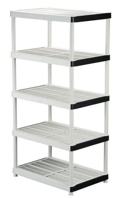 New 5 Shelf Plastic Ventilated Storage Shelving Unit Home Organizer Shelves Rack   eBay
