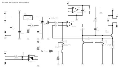 laser diode driver ttl schematic diy ttl diode driver laser pointer forums discuss laser pointers