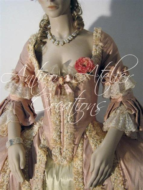 century rococo french court dress abito settecentesco
