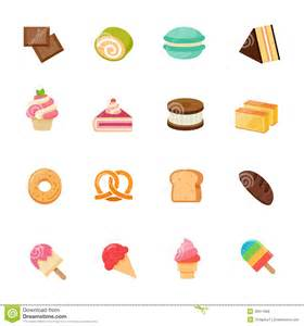 icon color dessert icon color flat icon design stock vector