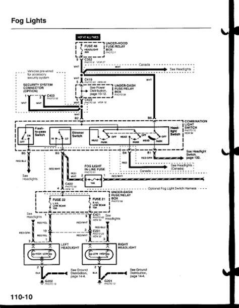 park light wiring diagram 96 honda civic get free image