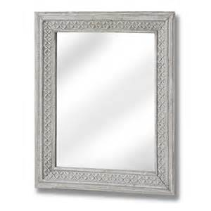 Large wall mirror with antique grey frame 61x51 bedroom furniture