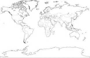 World Political Map Outline Printable by Blank World Political Map