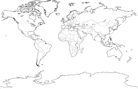 blank world political map