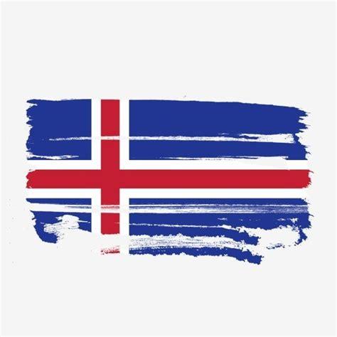bandera de islandia transparente  pincel de acuarela