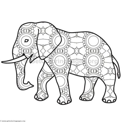 geometric elephant coloring pages geometric coloring pages elephant coloring pages