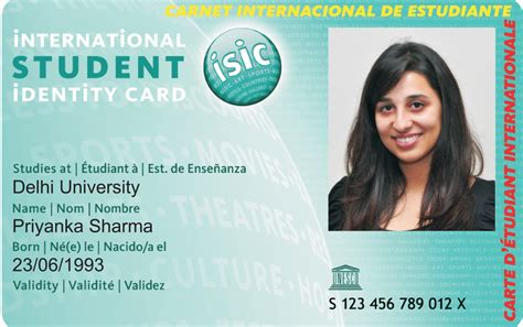 isic card template isic india isic card