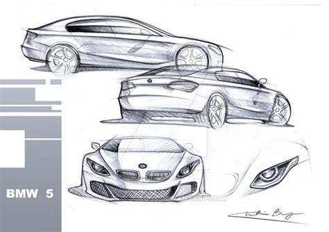 8 Series Sketches by Bmw 5 Early Sketches By Kris Burgos On Deviantart