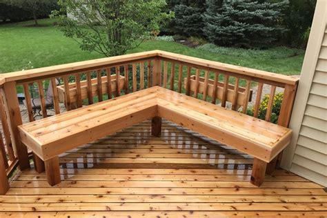 cedar deck bench photo galleries wood decks rock solid builders inc